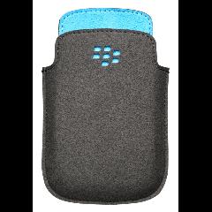 BlackBerry 9320 - Microfiber Pocket - Black and Sky Blue