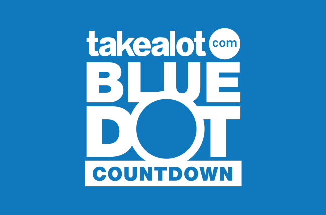 Takealot Blue dot countdown