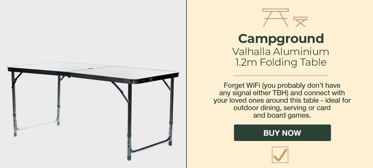 Camping Valhalla Aluminium Folding Table