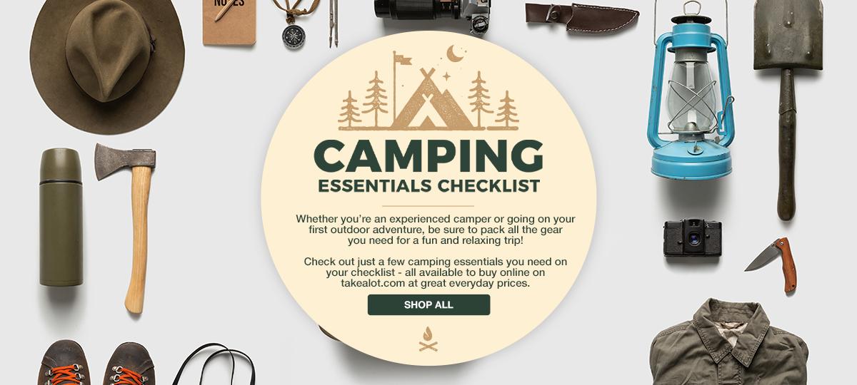 Takealot Camping checklist