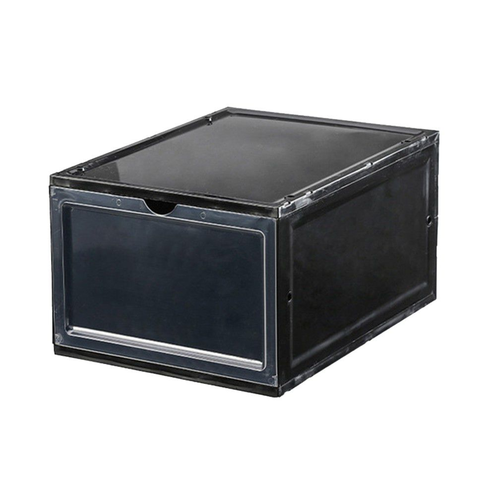 Anti dust Thicken Transparent Stackable Drawer Type Magnet Shoe Box