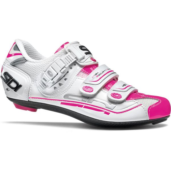 Sidi Women's Genius 7 Road Cycling Shoes - White/Pink Fluo