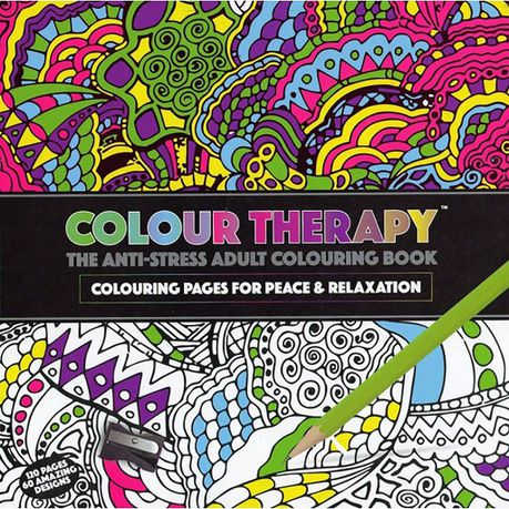 Colour Therapy - The Anti-Stress Adult Colouring Book Buy Online In South  Africa Takealot.com