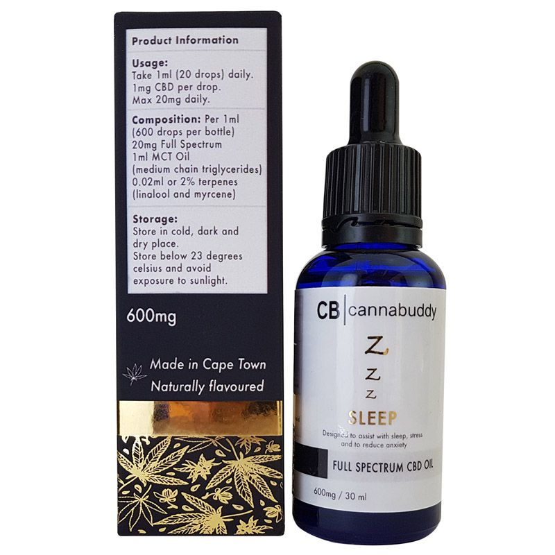 Cannabuddy CBD Oil For Sleep Full-Spectrum 600mg - 30ml