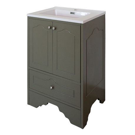 Olive Victorian Bathroom Vanity Cabinet With 600 Mm Ceramic Basin Buy Online In South Africa Takealot Com