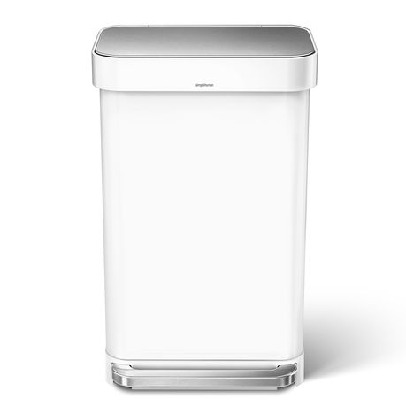 Simple Human 45l Rectangular Pedal Bin W Liner Pocket White S Steel Buy Online In South Africa Takealot Com