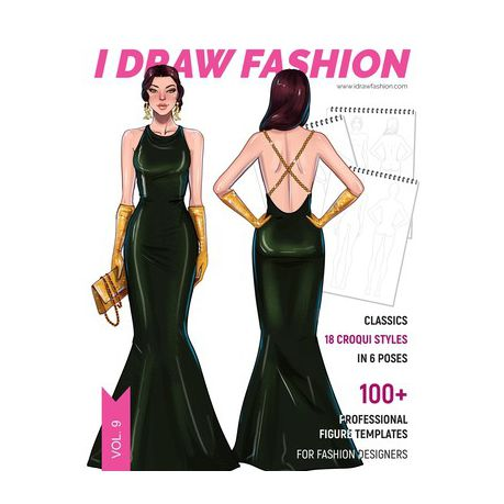 Classics 100 Professional Figure Templates For Fashion Designers Fashion Sketchpad With 18 Croqui Styles In 6 Poses Buy Online In South Africa Takealot Com