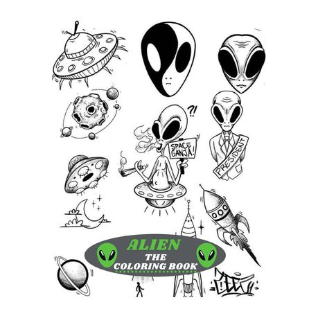 Alien The Coloring Book Amazing Kids Coloring Book With Fun Easy And Relaxing Coloring Pages Alien Inspired Scenes And Designs For Stress Buy Online In South Africa Takealot Com