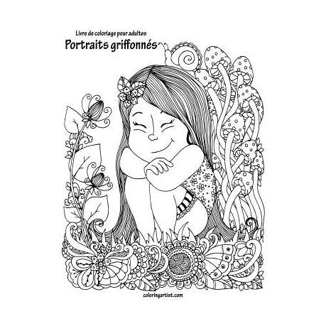 Livre De Coloriage Pour Adultes Portraits Griffonn S 1 Buy Online In South Africa Takealot Com