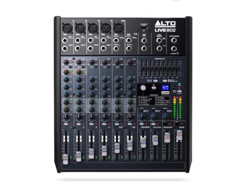 Alto LIVE 802 Professional 8 Channel/2 Bus Mixer