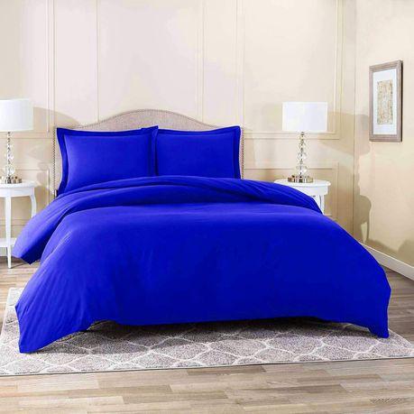 Wrinkle Resistant Luxury Hotel Duvet, Royal Blue Queen Bed Sheets