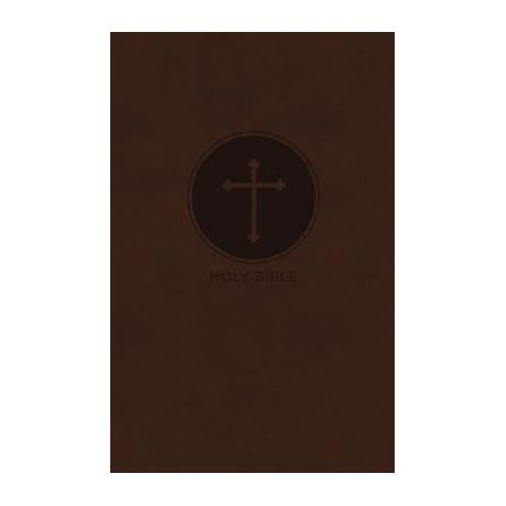 Kjv Reference Bible Giant Print Imitation Leather Brown Red