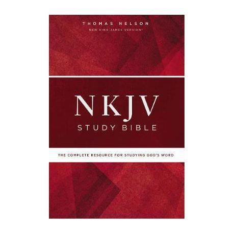 NKJV Study Bible, Hardcover, Red Letter Edition, Comfort Print