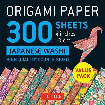 Origami Paper 300 Sheets Japanese Washi Patterns 4 10 Cm Tuttle