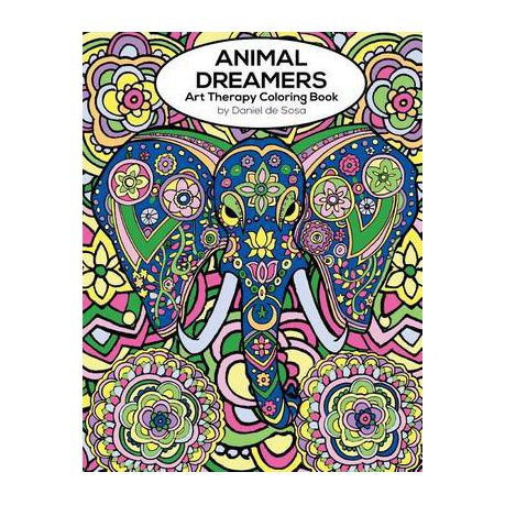 Animal Dreamers Art Therapy Coloring Book