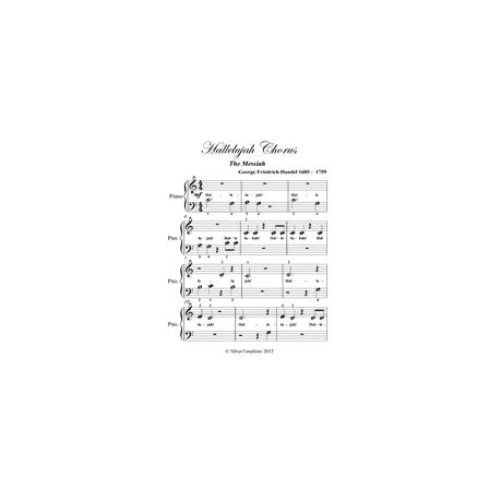 Hallelujah Chorus the Messiah - Beginner Piano Sheet Music (eBook)