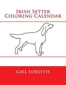 Irish Setter Coloring Calendar