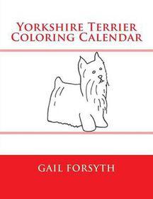 Yorkshire Terrier Coloring Calendar