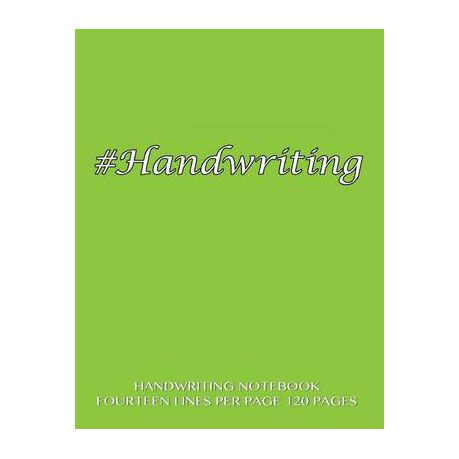 Handwriting Notebook Fourteen Lines Per Page 120 Pages Buy