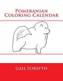 Pomeranian Coloring Calendar