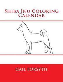 Shiba Inu Coloring Calendar