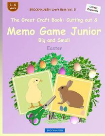 Brockhausen Craft Book Vol. 5 - The Great Craft Book: Cutting Out & Memo Game Junior Big and Small