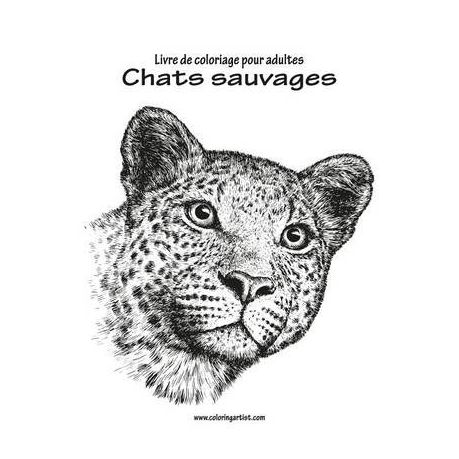 Livre De Coloriage Pour Adultes Chats Sauvages 1 Buy Online In