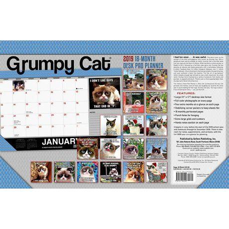 2019 Grumpy Cat 18 Month Desk Pad Planner Buy Online In South