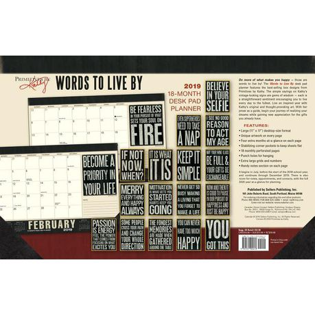2019 Words To Live By 18 Month Desk Pad Planner Buy Online In