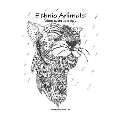 Ethnic Animals Coloring Book For Grown Ups 2 Buy Online In South