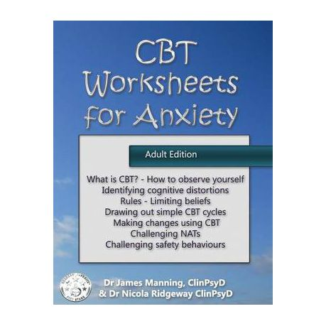 CBT Worksheets for Anxiety (Adult Version)