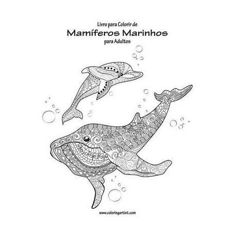 Livro Para Colorir De Mam Feros Marinhos Para Adultos 1 Buy