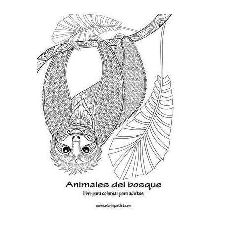 Animales Del Bosque Libro Para Colorear Para Adultos 1 Buy Online