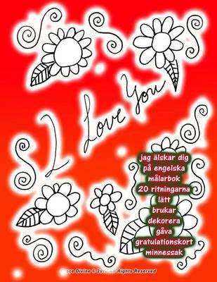 gratulationskort engelska Jag Alskar Dig Pa Engelska Malarbok 20 Ritningarna Latt Brukar  gratulationskort engelska