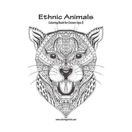 Ethnic Animals Coloring Book For Grown Ups 3 Buy Online In South
