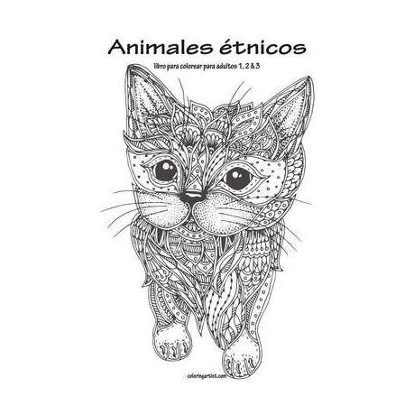 Animales Etnicos Libro Para Colorear Para Adultos 1, 2 & 3 | Buy ...
