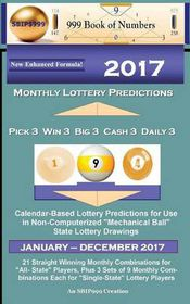 2017 Monthly Lottery Predictions for Pick 3 Win 3 Big 3 Cash 3 Daily 3