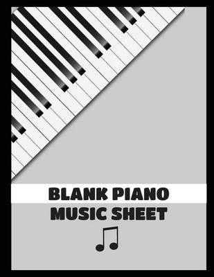 Blank Sheet Music For Piano Large Print 85 By 11