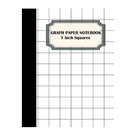graph paper notebook 1 inch squares graphing paper 100 pages