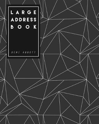large address book 8x10 inches large size suitable for seniors