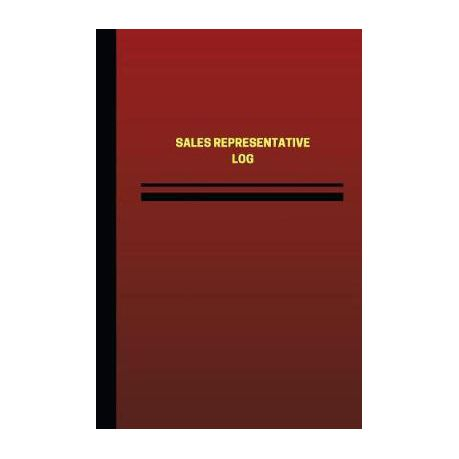 sales representative log logbook journal 124 pages 6 x 9 inches