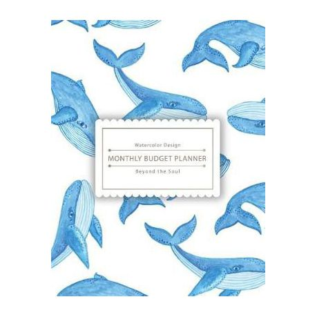 Monthly Budget Planner Beyond The Soul Little Cute Blue Whale Bill Tracker 85