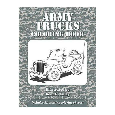 Army Trucks Coloring Book Buy Online In South Africa Takealot Com