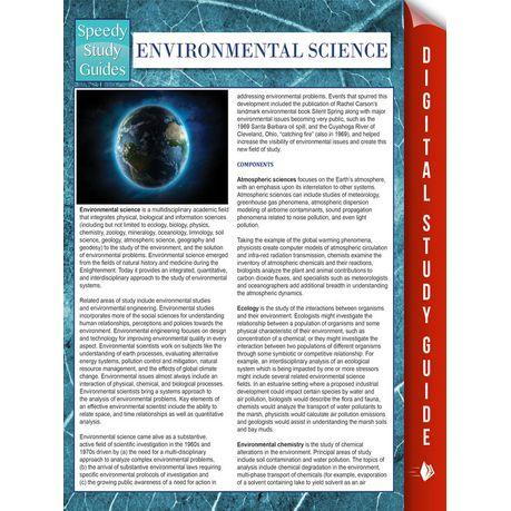 Environmental Science Speedy Study Guides Ebook Buy Online In