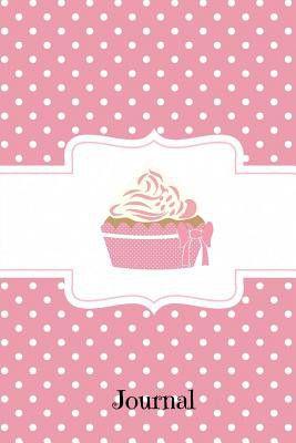 journal pink polka dot cupcake graph journal notebook planner 4x4
