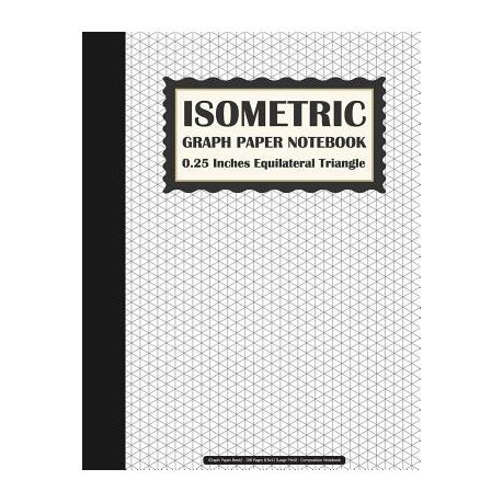 isometric graph paper notebook 0 25 inches equilateral triangle