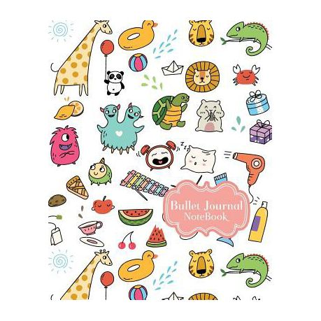 Bullet Journal Notebook: Cute Animals Drawing Cover: Notebook Dot-Grid