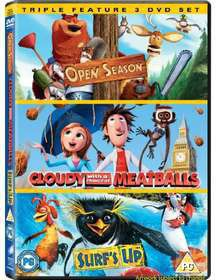 Cloudy With a Chance of Meatballs / Open Season / Surf's Up (DVD)