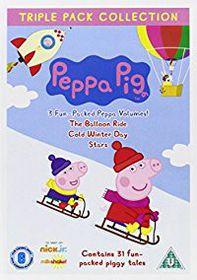 Peppa Pig: Balloon Ride/Cold Winter Day/Stars (DVD)