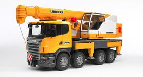 Bruder Scania R-Series Liebherr Crane With Lights and Sound